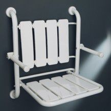 WC Care Folding seat for the shower w/back amd arms