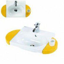 WcKids wash basin 430×375 w/ hole f/ accessories