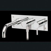 Tube-wall bath mixer