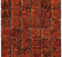 Crystal mosaic red