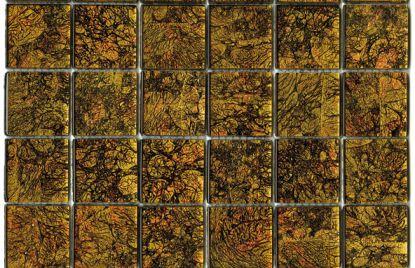 Crystal mosaic scrap gold