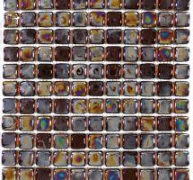Crystal mosaic brown metal