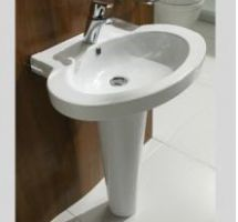 Nau wash basin with pedestal