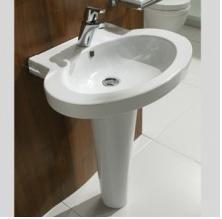 Nau wash basin with pedestal